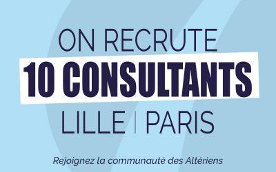 ALTERA RECRUTE 10 CONSULTANTS SUR LILLE ET PARIS !
